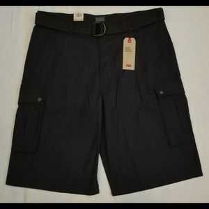 Levi's Shorts - levis snap cargo shorts with a belt black last one